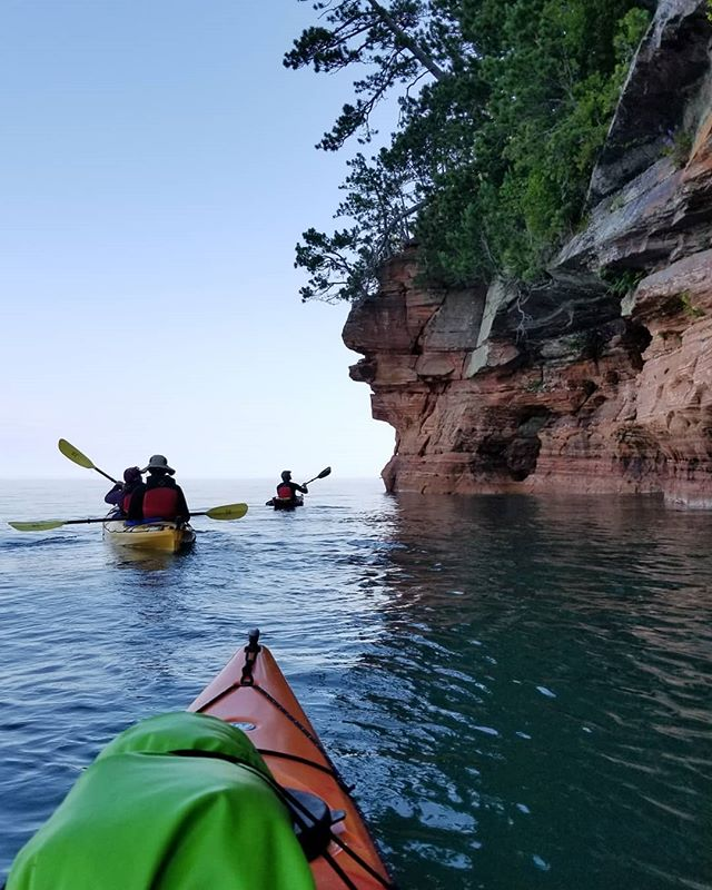 The power of waves. Exploring the Apostle Islands. #apostleislands #wisconsin #seakayaking #lakesuperior #caves #waves #explore #getoutthere #sharedadvntures
