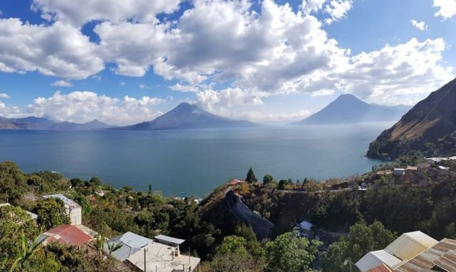 Backpacking around Lake Atitlan in Guatemala, was surprising, peaceful and absolutely beautiful.  #guatemala #lakeatitlan #backpacking #adventure #optoutside #travel #sunrises