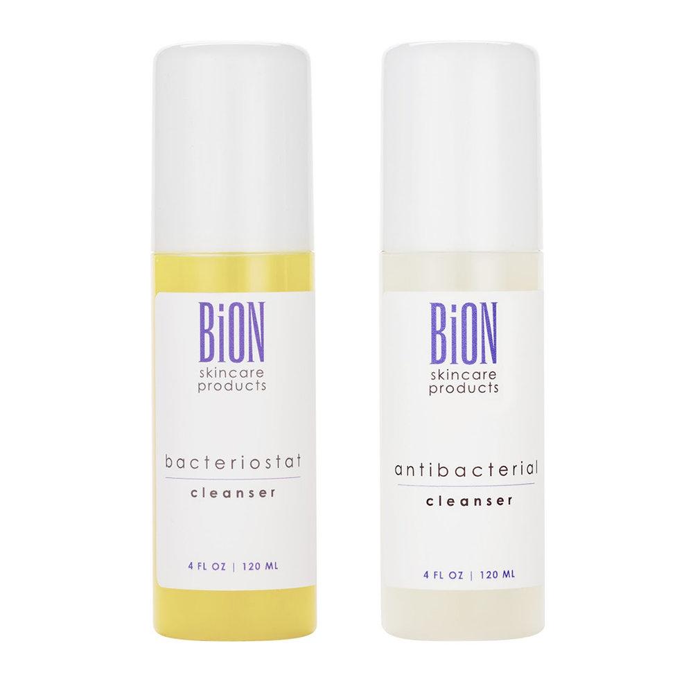 1.Puhdistus - Puhdistustuote tuhoaa aknea ylläpitävää propionibacterium acnes-bakteerikantaa, pitää huokoset puhtaina ja valmistaa ihon muille hoitotuotteille. Puhdistusgeelimme ei sisällä haitallisia SLS-sulfaatteja ja koostumukset ovat vain kevyesti vaahdottuvia, jotta ihoa suojaava tärkeä lipidikerros pysyy hyvinvoivana. Puhdistusgeelin antibakteeriset kasvi - ja yrttiuutteet ovat ihon luottokumppaneita, jotka taltuttavat tehokkaasti tulehdusreaktioita ja tuhoavat haitallista bakteerikantaa.Tuotteet Bacteriostat Cleanser tai Antibacterial Cleanser