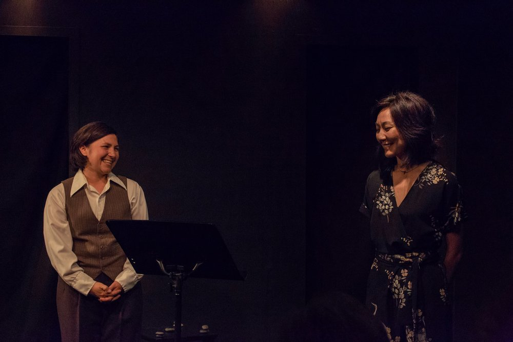 "Nikiko and Brynn perform "" Hold This Stone ,"" an evening of original poetry and performance in Fresno, CA"