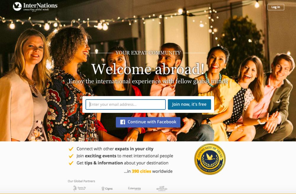 Internations Homepage