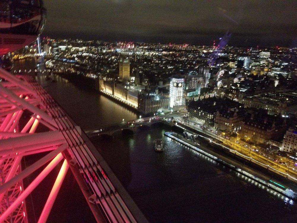 Skyline Views from The London Eye