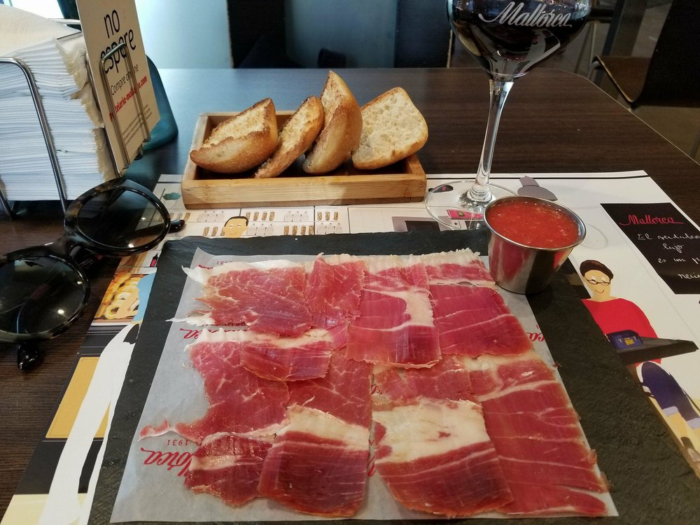 Afternoon snack at Mallorca
