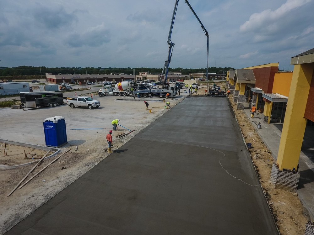 Concrete Flatwork - TR Construction provides turn key solutions for concrete flatwork.  We can complete a variety of flatwork scopes to include minor grading, granular fill placement, vapor barrier, reinforcement placing, and placing and finishing to meet specified flatness and levelness specifications.