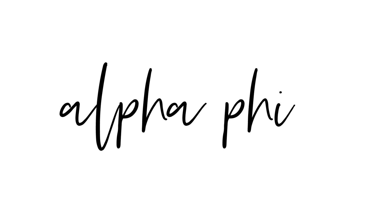 the logo for alpha phi