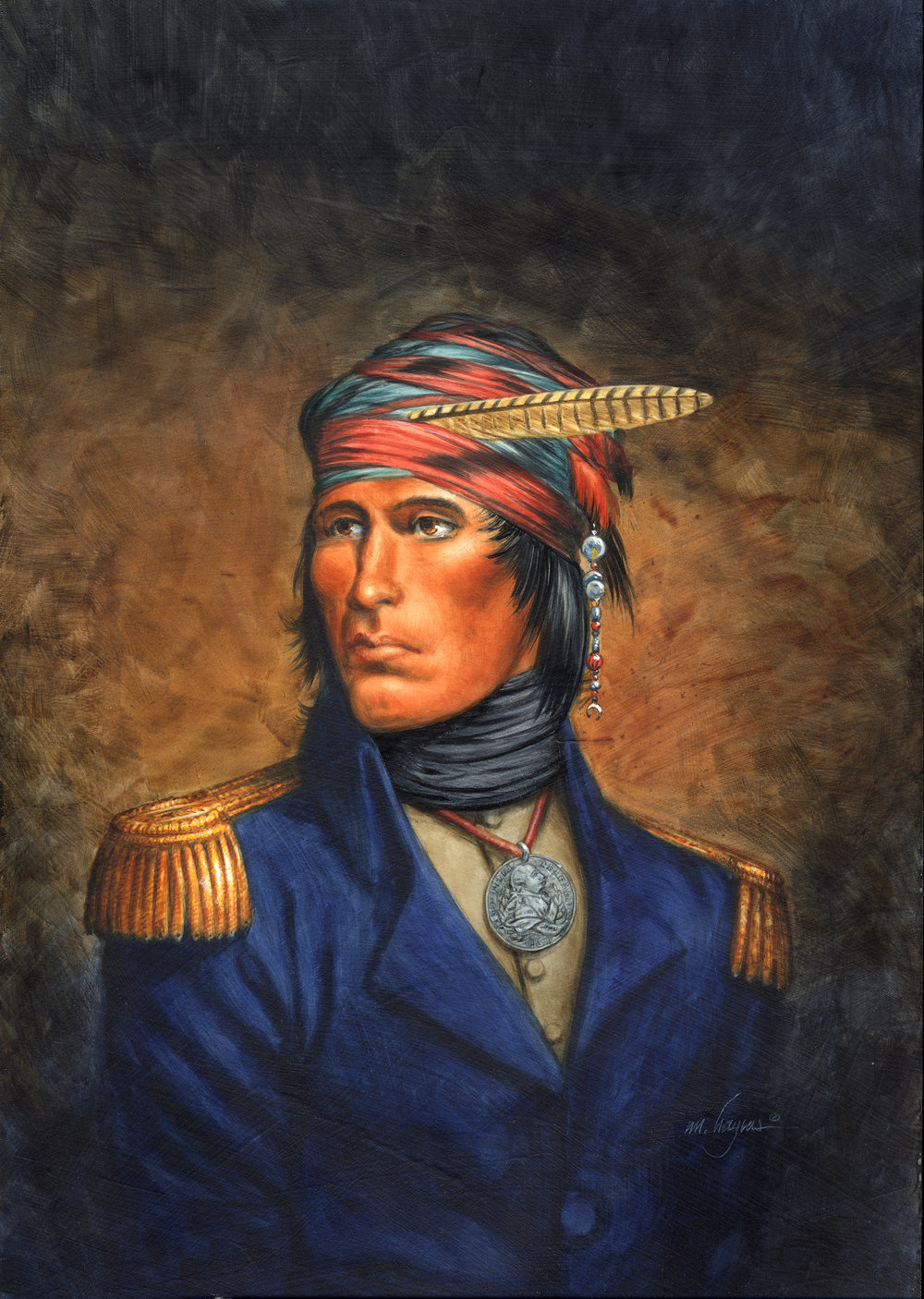 "Tecumseh- ""Crouching Panther"", 1813"