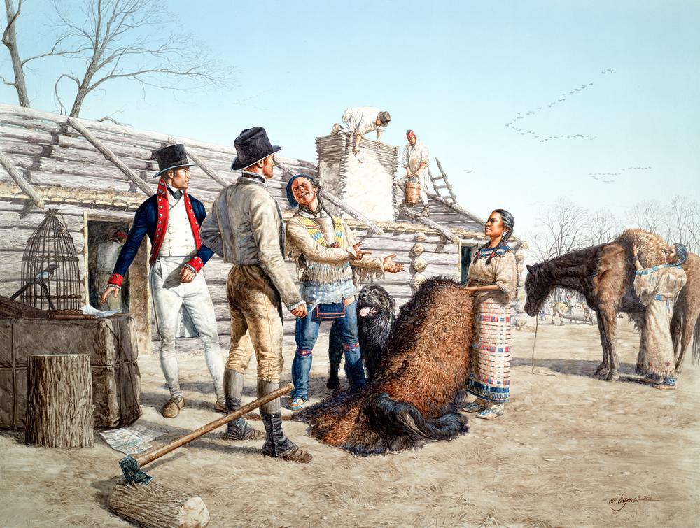 Sacagawea's First Gift, 1804
