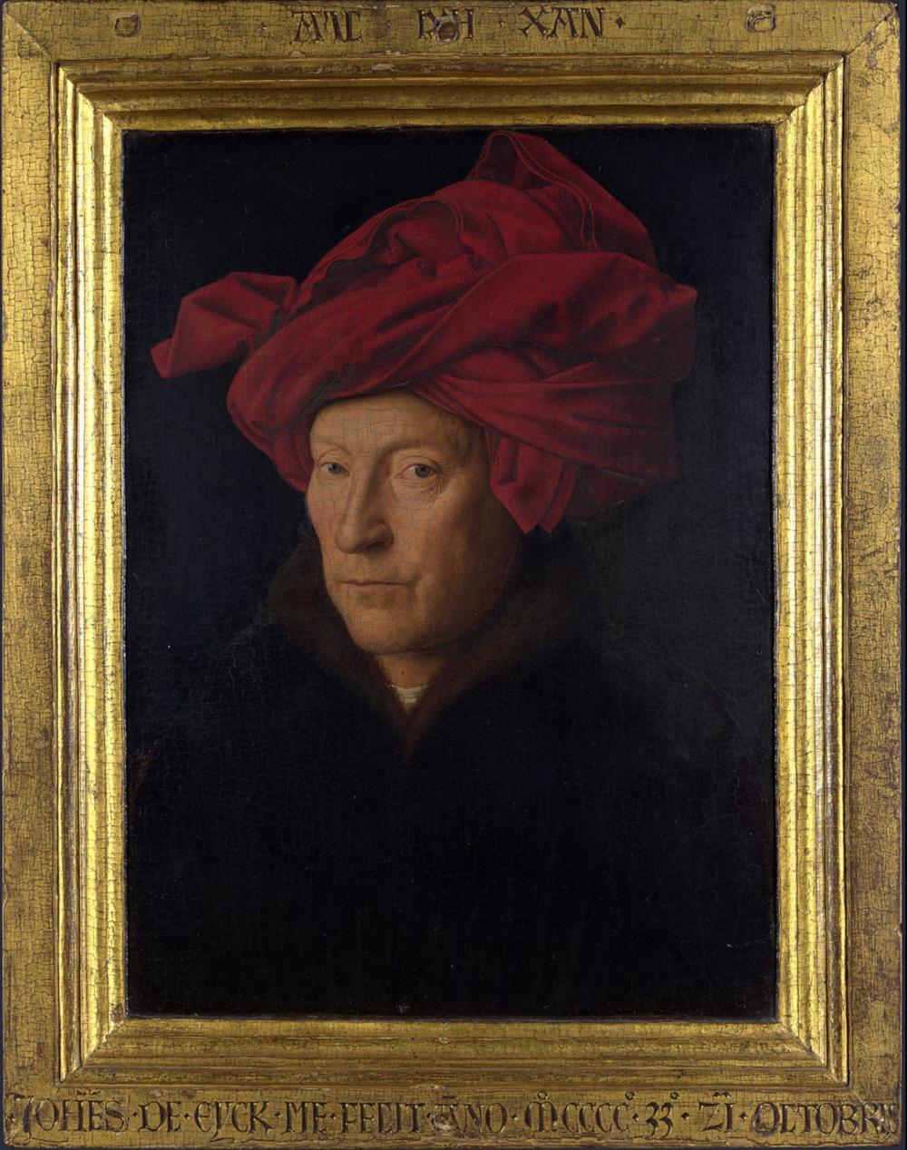 Jan Van Eyck's Portrait of a Man (possibly a self-portrait)