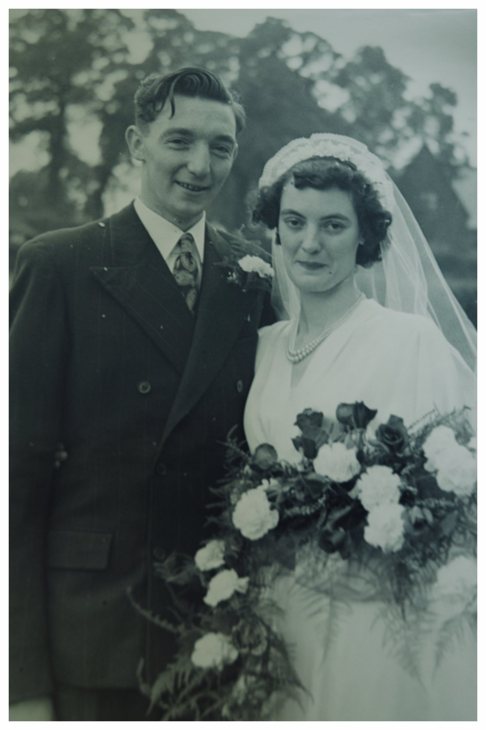 My grandparents on their wedding day, in Chorley, Lancashire, England