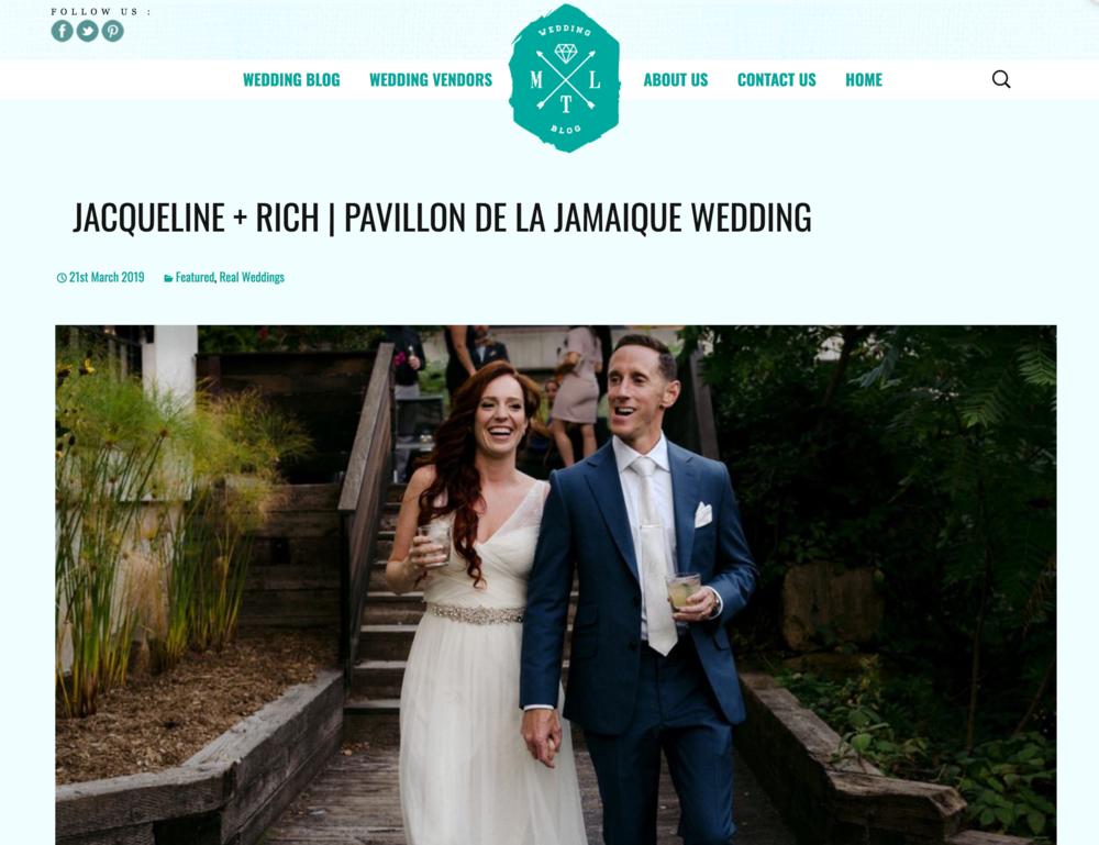 Screenshot from MTL Wedding Blog