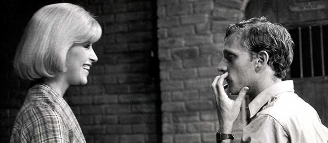 Howard working with Ellen Green on the original off-Broadway set.