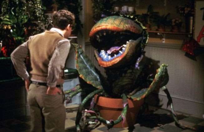 Seymour and Audrey II in the 1985 film