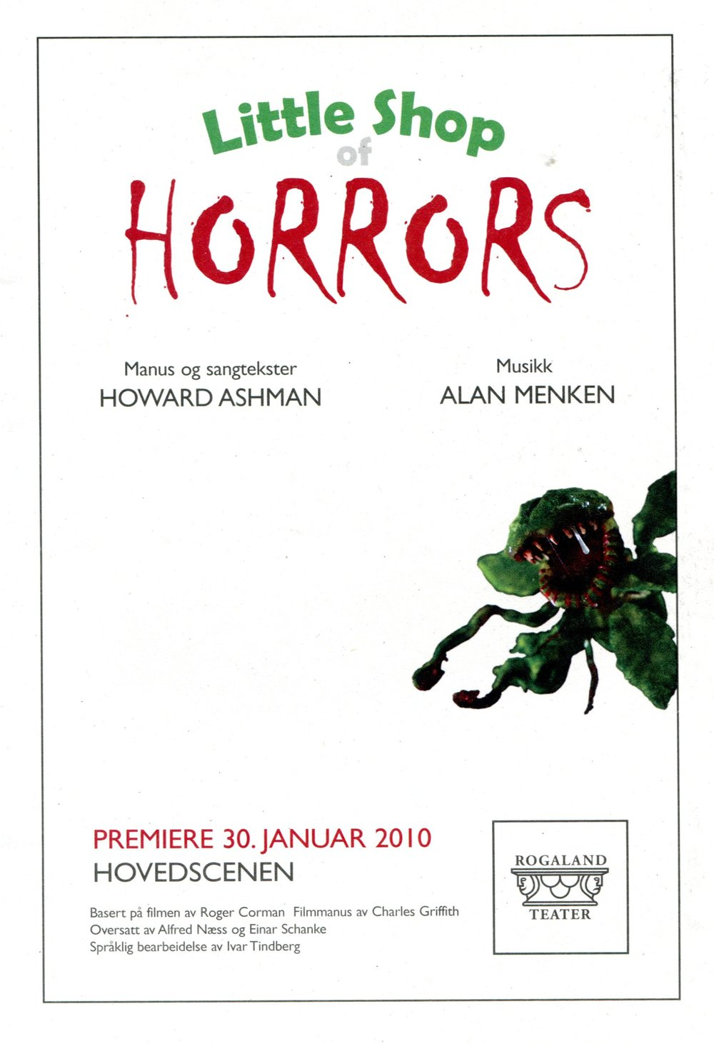 Poster from a 2013 LSOH production in Norway.