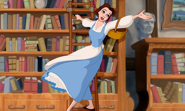 Belle loved books