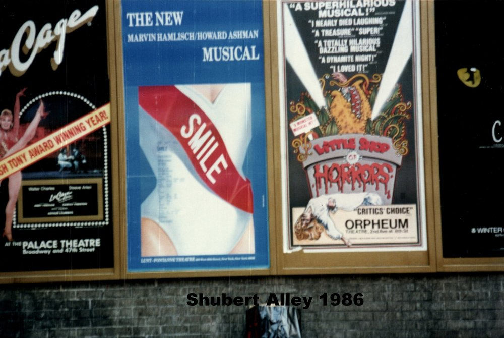 Snapshot of a moment:  Shubert Alley 1986