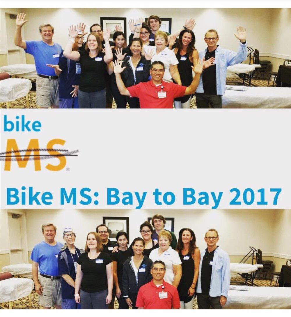 Volunteering at Bike MS: Bay to Bay 2017