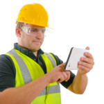 contractor with mobile device