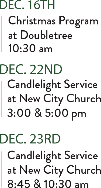 Christmas In The City Schedule