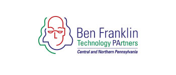 Ben Franklin Technology partners purple and green logo