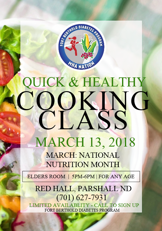 Ft Berthold Diabetes Program Quick & Healthy Cooking Class Parshall March 13.png
