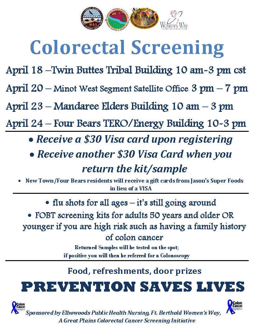 Colorectal Screening TB Four Bears Minot Mandaree .jpg