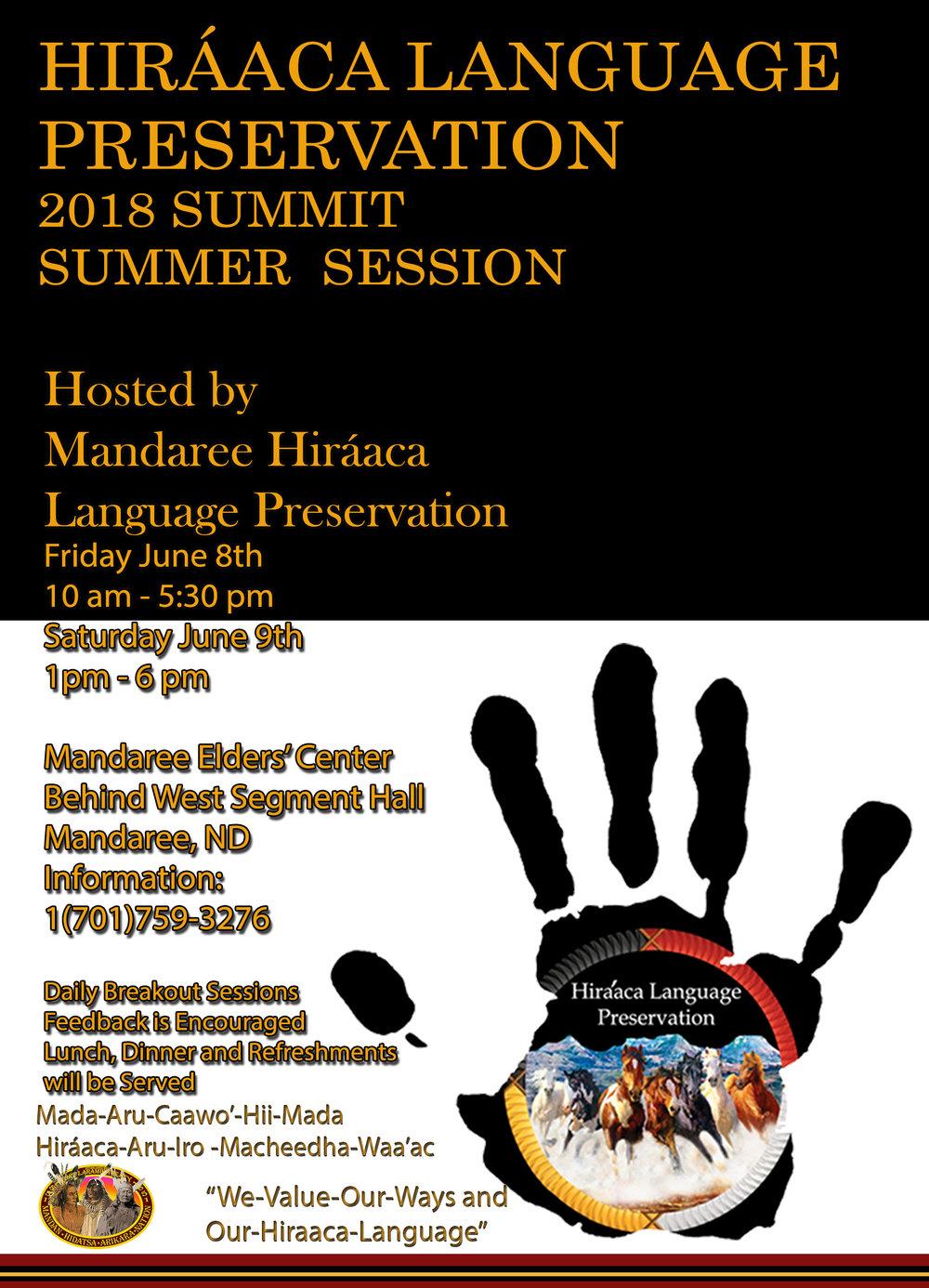 Hiraaca language Preservation 2018 Summit Summer Session.jpg