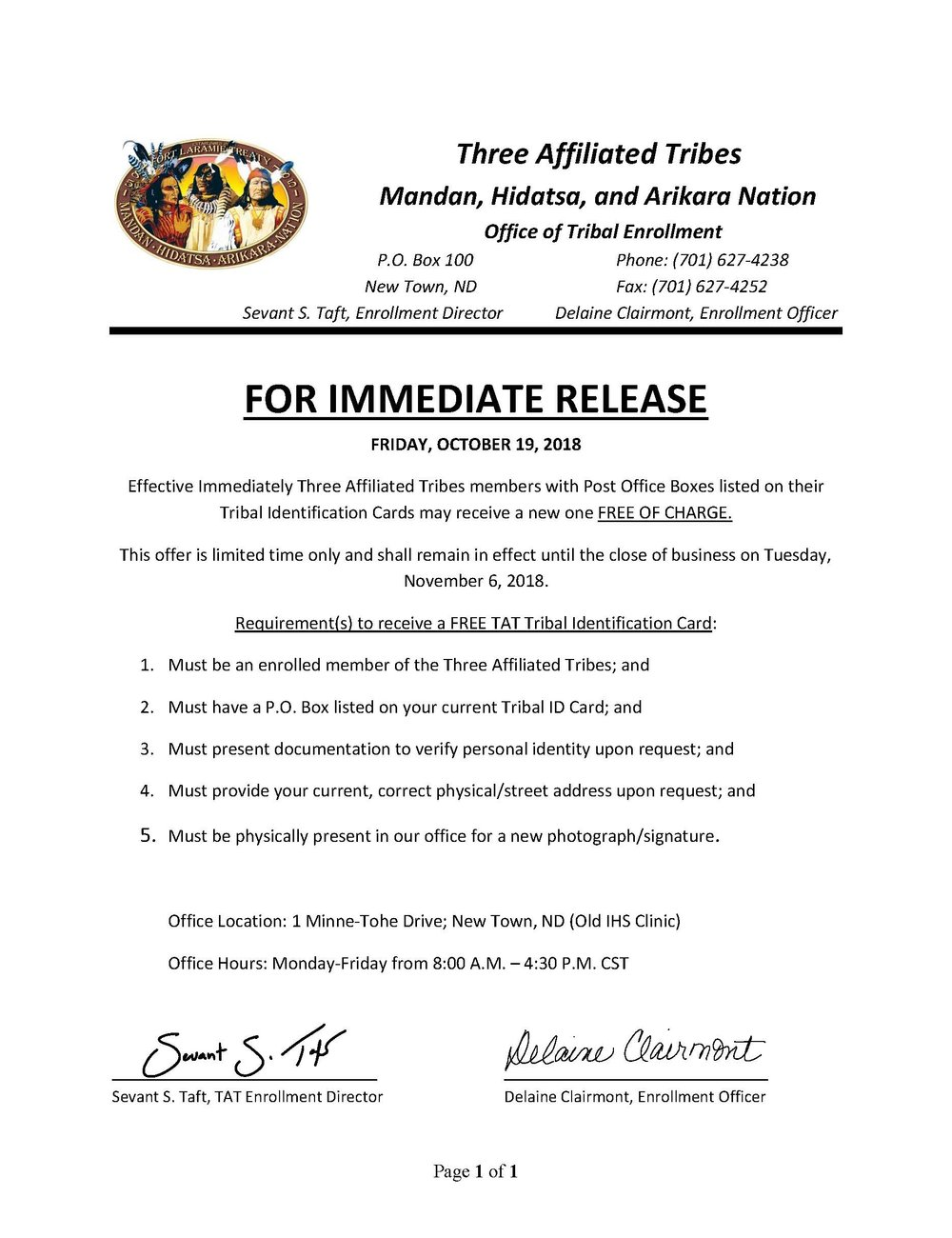 FREE TRIBAL ID CARDS NOTICE - Oct 2018.jpg