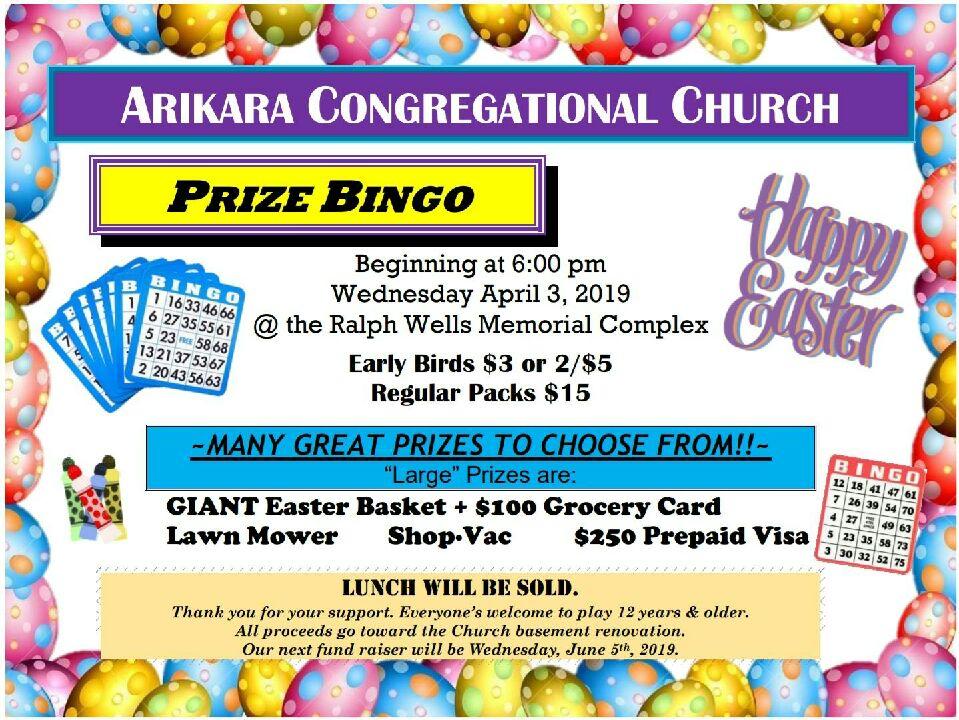 Arikara Congregational Church Prize Bingo.jpeg
