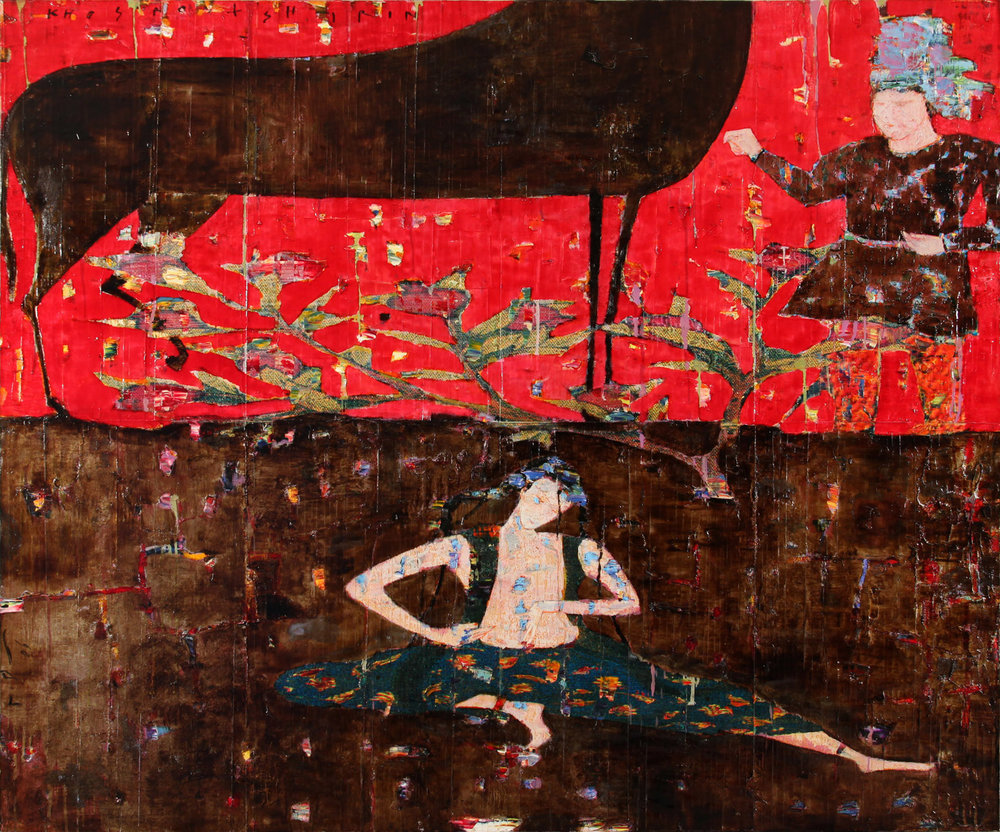 Reza Derakshani - Khosrow and Shirin Series, Mixed Media on Canvas, 150x180cm, 2009, 32000dollars.jpg