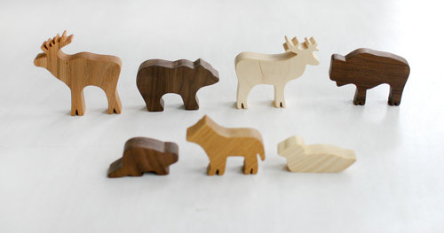 For Additional Decor Items I Could Scatter Around The Room Ordered These Wooden Animals From Happy Bungalow Theyre Hand Made Cute And All Natural So