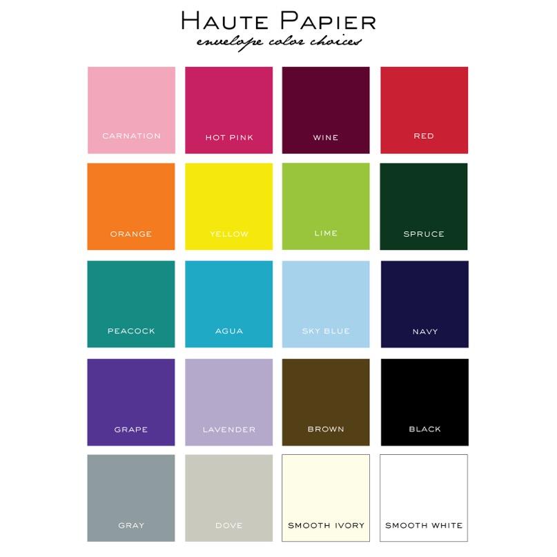 Envelope Color Choices