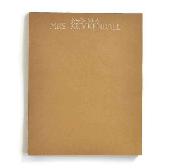 Letter Kraft Notepad starting from $40