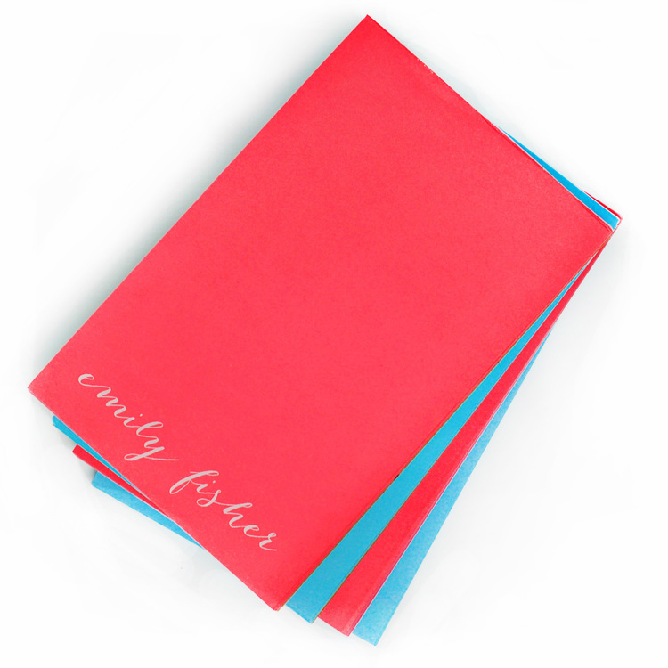 Large White on Bright Notepad starting from $26