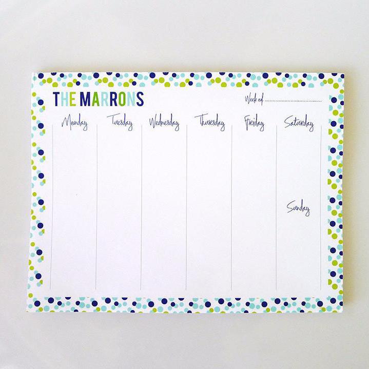 Weekly Deskpad Confetti