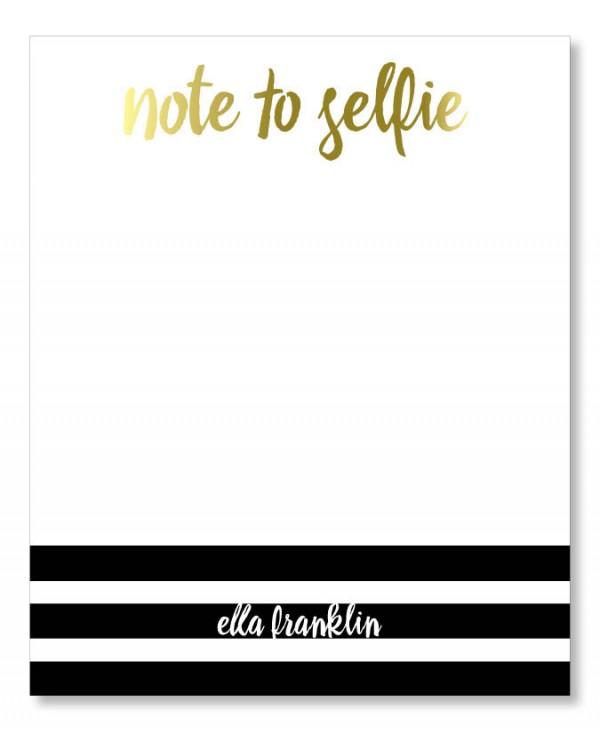 Note to Selfie