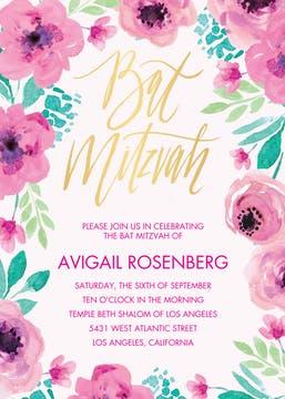 Bat Mitzvah Blossoms