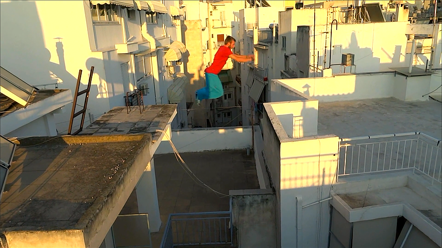Still from Break the Jump, official selection for College Documentary.