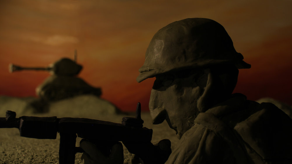Still from Veterans, official selection for College Documentary.