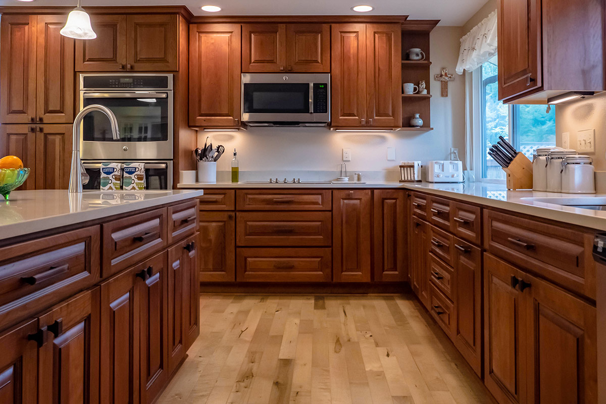 Design Highlight A Feature Rich Kitchen With Luxury Cherry