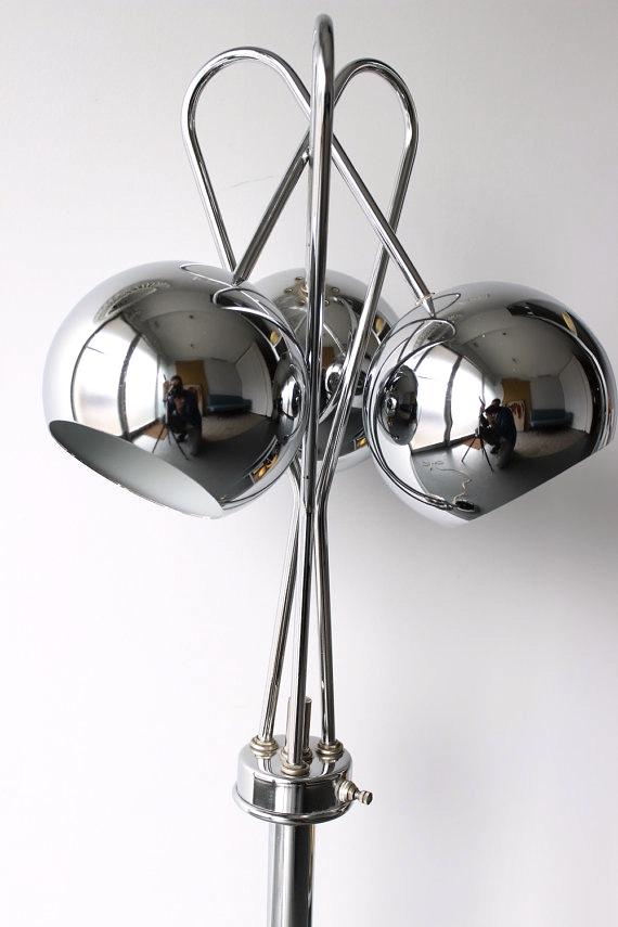 Chrome Globe Tri Light Table Lamp
