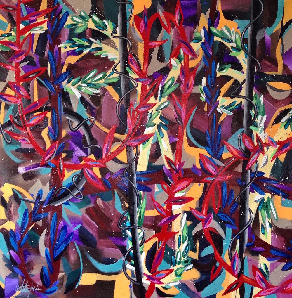 """""""Vashon""""   44""""x 40"""" Oil on Canvas 2016"""