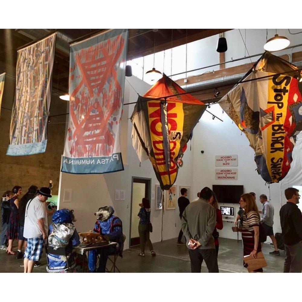 Portland, OR, Elizabeth Jones Art Center. Condor and Eagle exhibition- June 2017