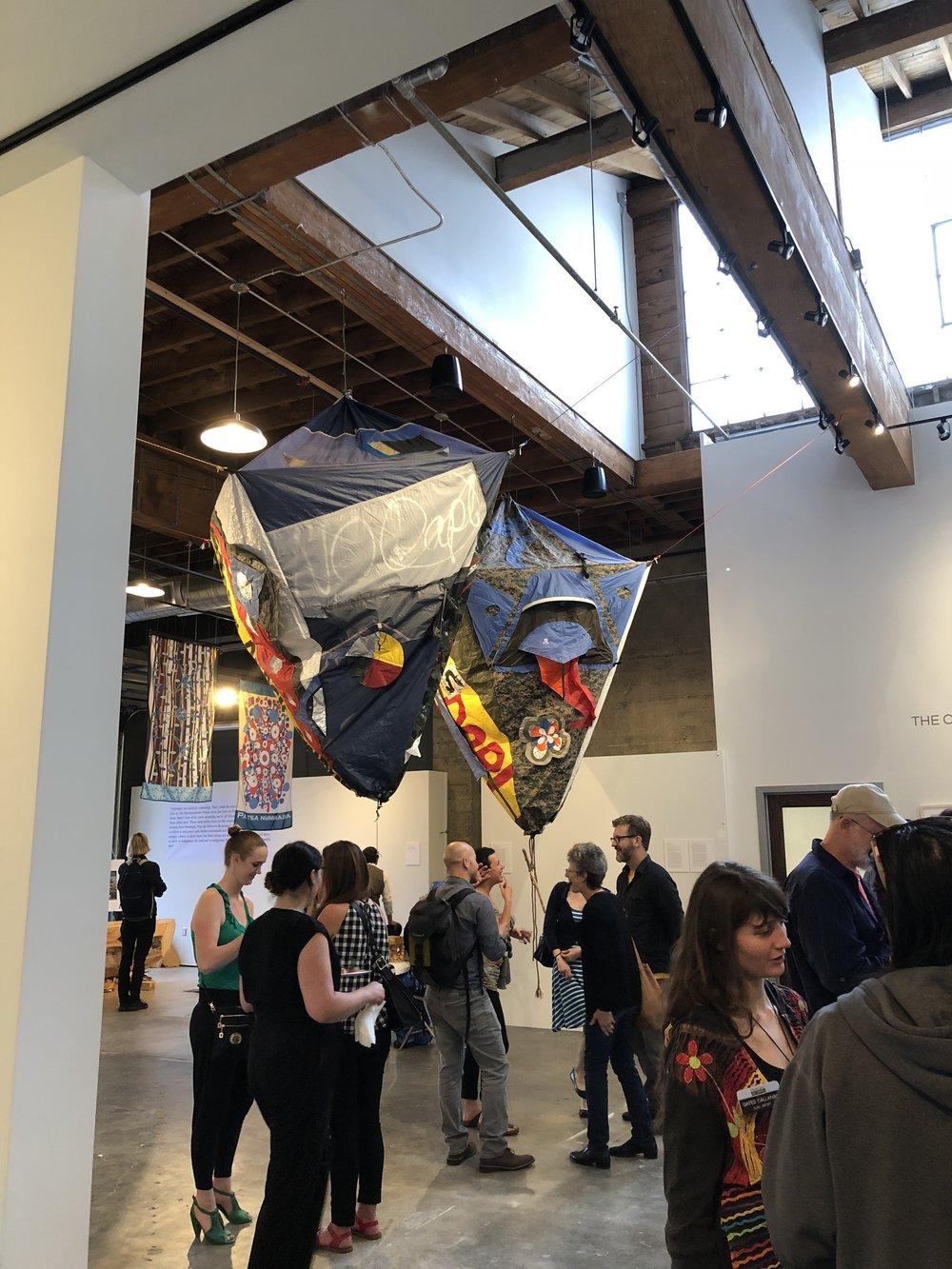Portland, OR, Elizabeth Jones Art Center, Condor and Eagle exhibition, June 2017