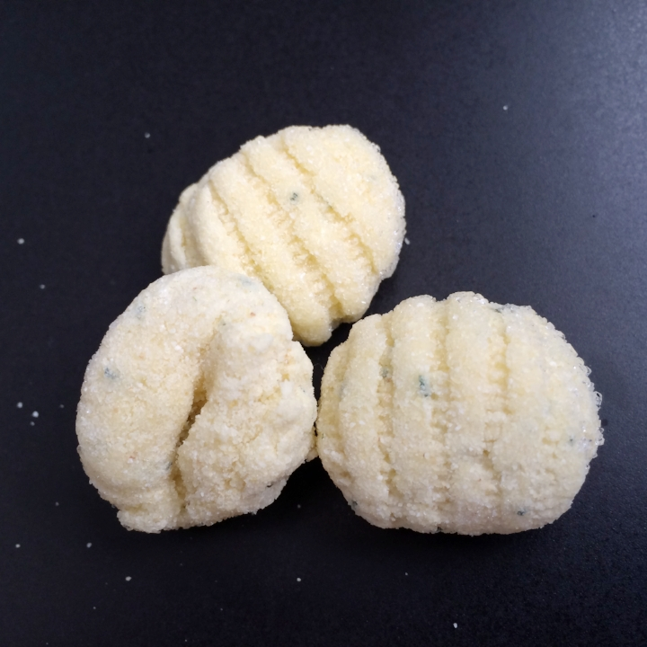 Garlic Parsley Gnocchi    10 lb. Bulk case (48-50 per lb.)  Light & fluffy potato dumplings with ridges to better hold sauces.