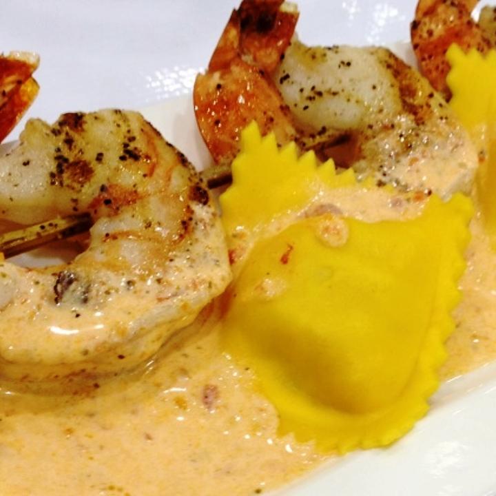 Seafood Filled Ravioli