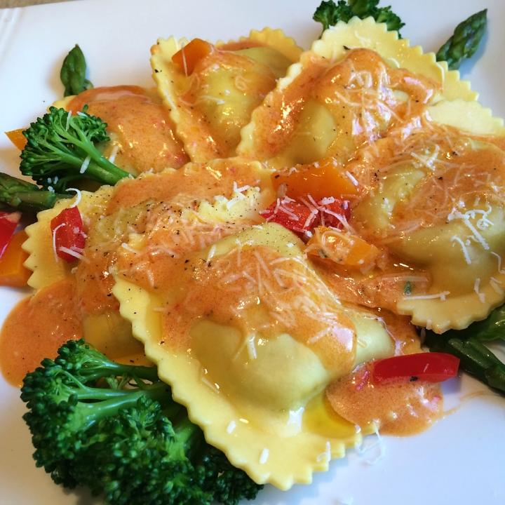 Vegetable Filled Ravioli