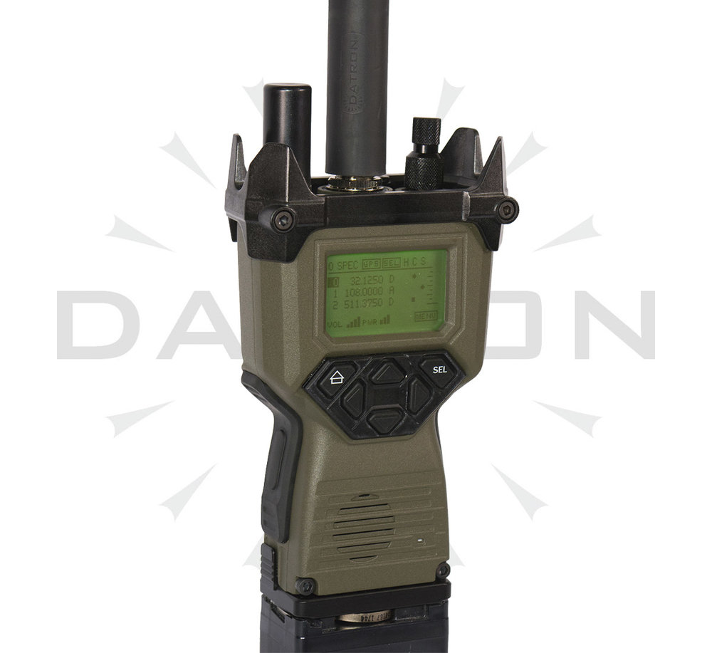 FEATURES - • 30 to 512 MHz (model dependent)• 100 programmable memory channels• Rugged (MIL-STD-810G) immersible to 1 m• Up to 7.5W Output power in 3 programmable steps• AM- Ground to Air operation• Module level Built-In Test (BITE)• Embedded ECCM, COMSEC AES-256• GPS Reporting functions• Spectre Messaging functions• Companion Data and management software package• Dual PTT for ease of operation