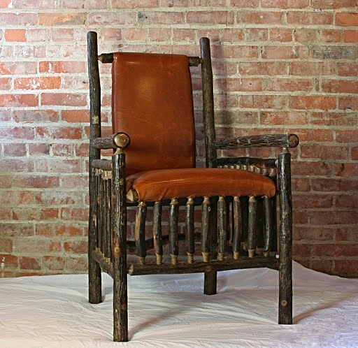 Hickory Lodge Chair in leather