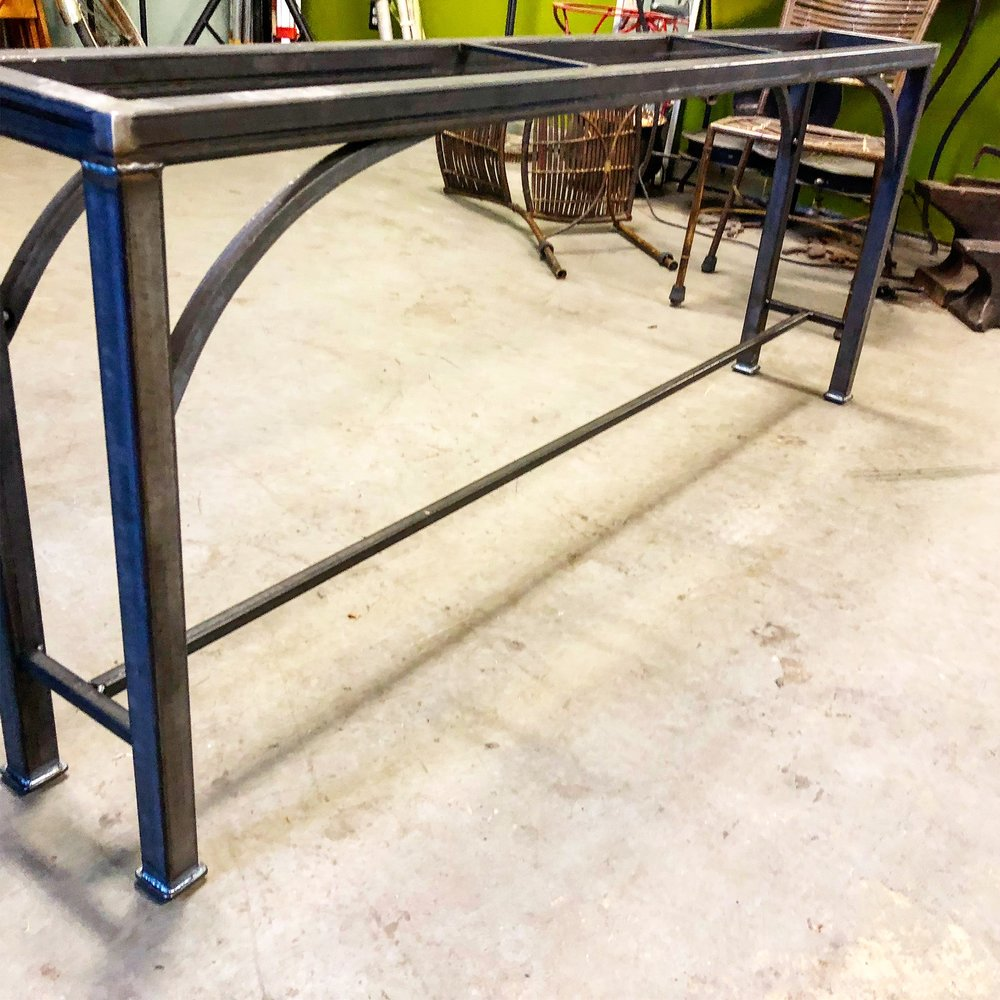 New steel table bases in the works