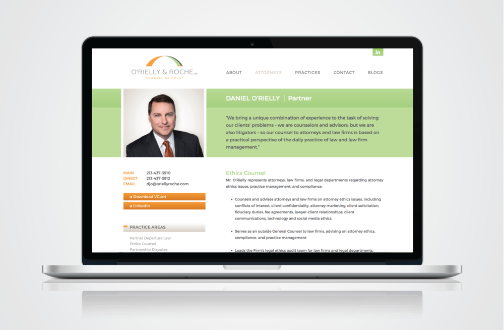 Law Firm Website Design - O'Rielly & Roche